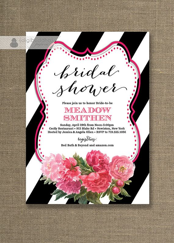 17 Best images about invite ideas – Black and White Wedding Shower Invitations