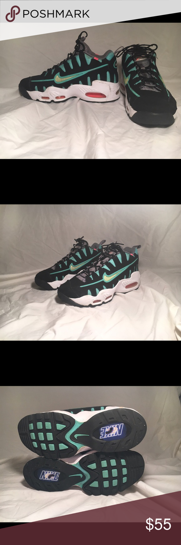 870d4ab132ad ... italy nike air max nm nomo 6 gs south beach scuffed and cracked mid  sole.