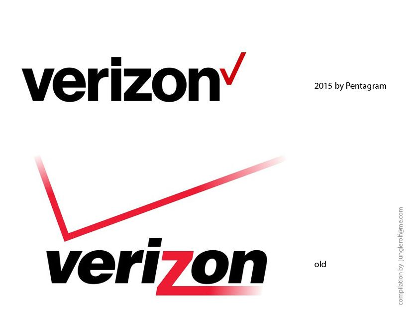 Logo Evolution 2015 Before After Verizon Logo New By