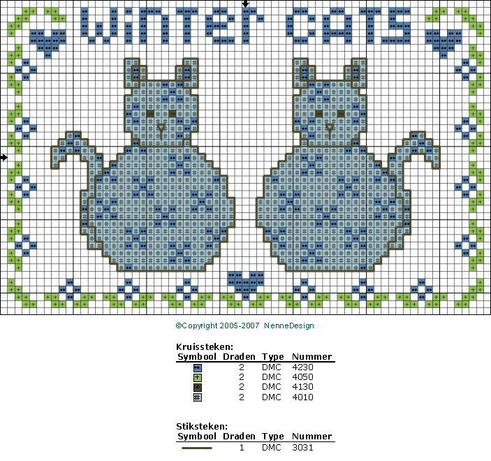 NenneDesign embroidery patterns - Freebee December '07
