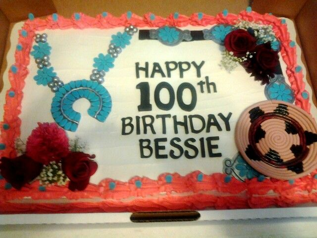Navajo Design Cake A full sheet marble birthday cake topped with