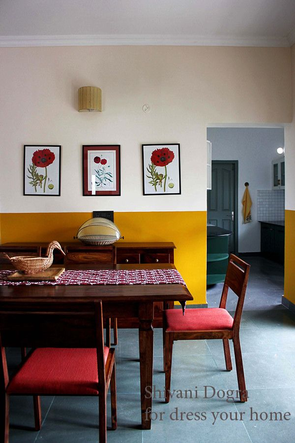 Revisited How Shivani Dogra Dresses Up Homes Dress Your Home Indian Design Wall ColorsPaint