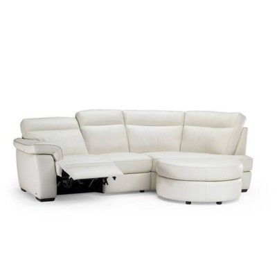 The Natuzzi Editions Milan Leather Curved Sofa | Leather ...