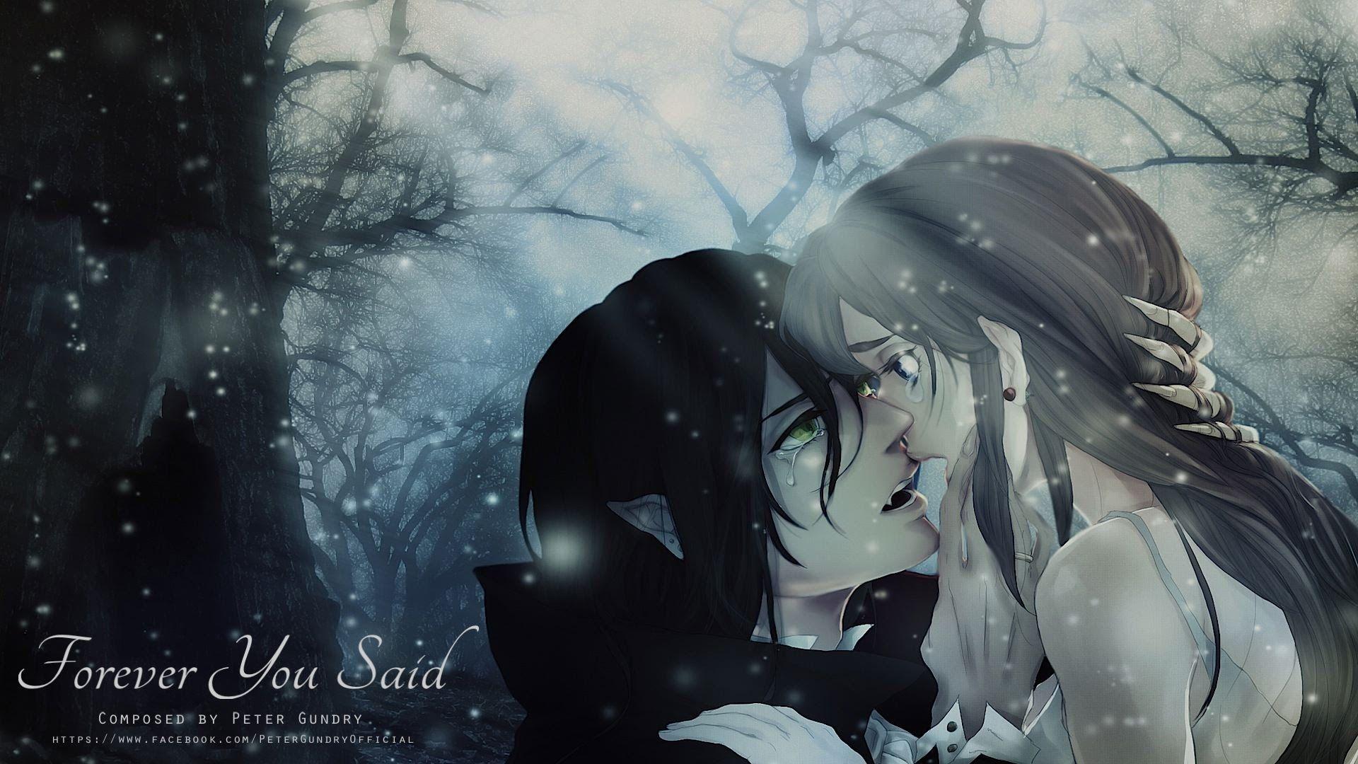 Dark emotional vampiric music forever you said peter - Dark anime couples ...
