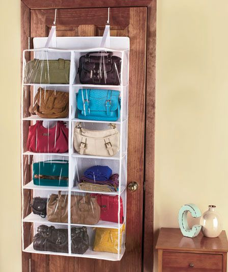 Bon No More Piles Of Purses: Over The Door Purse Storage | The Lakeside  Collection
