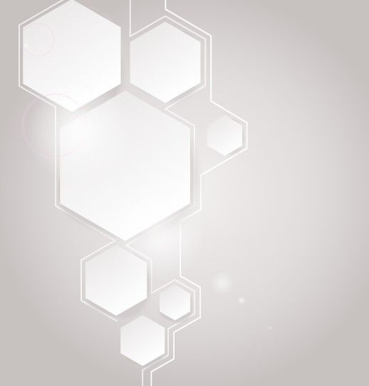 simple white hexagon abstract vector background - titanui