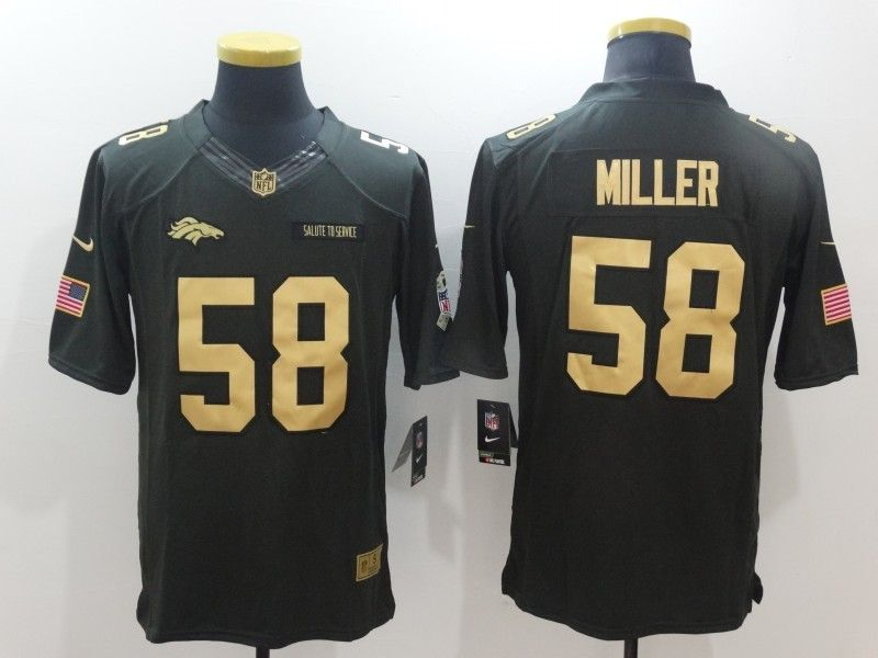 cheaper 2937f 9f187 ... norway denver broncos 58 miller green nike 2016 christmas gold edition  jersey f0280 57686