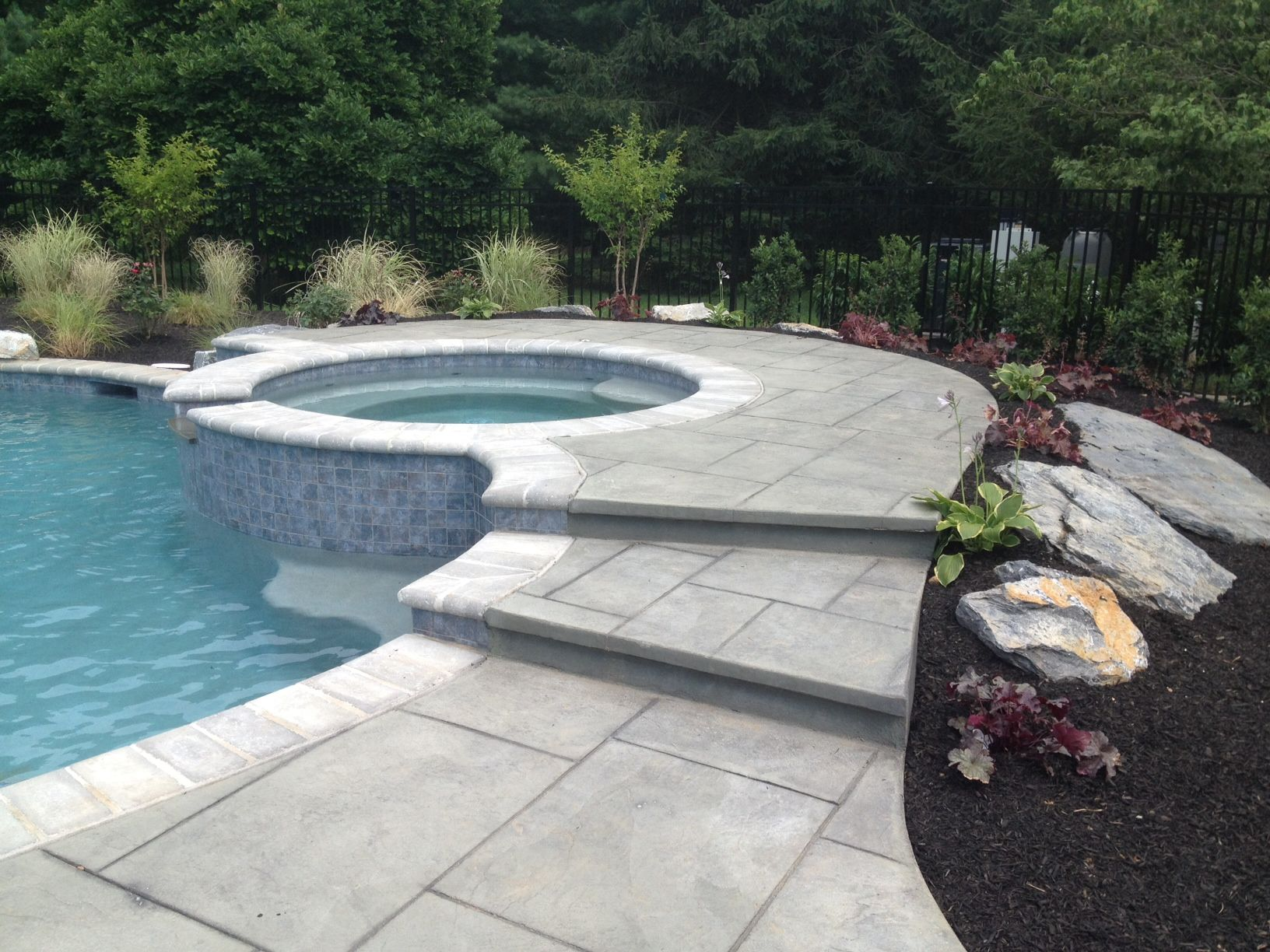 inground pool landscaping with fencing landscaping company nj pa custom - Inground Pool Patio Designs