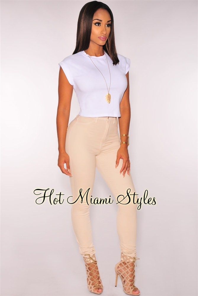 8db5566d62 Nude High-Waist Skinny Jeans   Fashion Nova, Hot Miami Styles, Posh ...