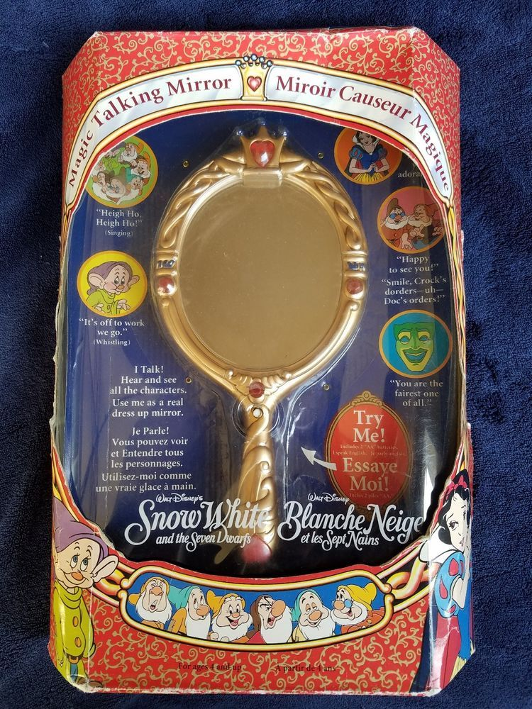 WALT DISNEY Original Magic Talking Mirror SNOW WHITE Seven