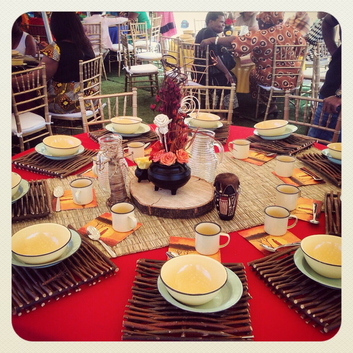 Wedding Decor Ideas Traditional : Traditional african wedding centerpieces and decor