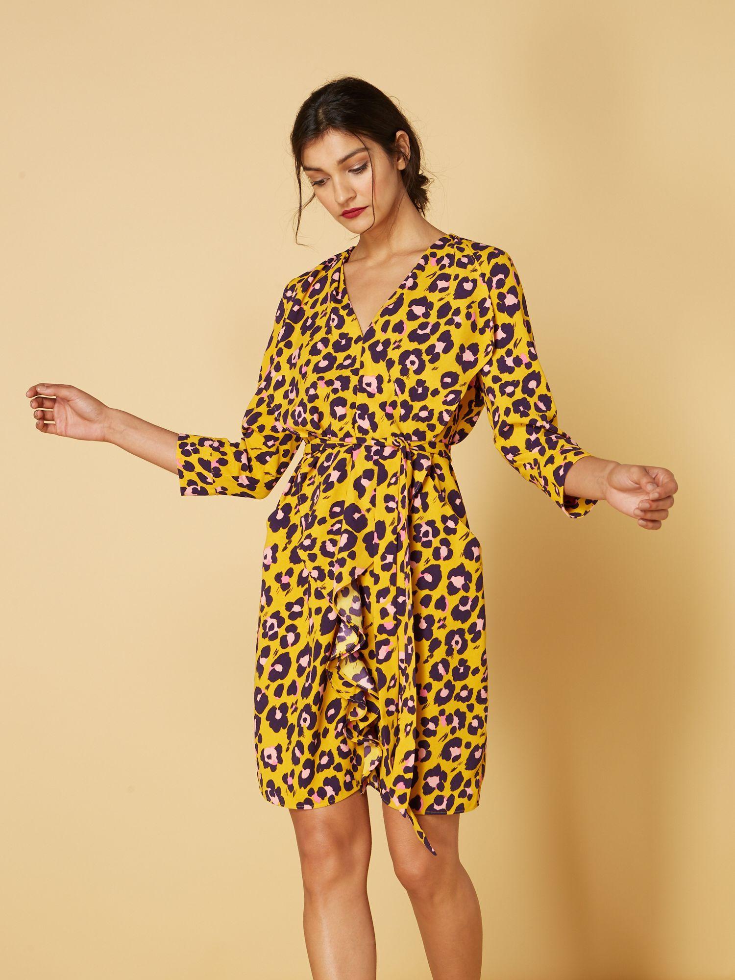 2b6fb11efd Biba Animal Print Ruffle Front Dress - House of Fraser | leopard ...