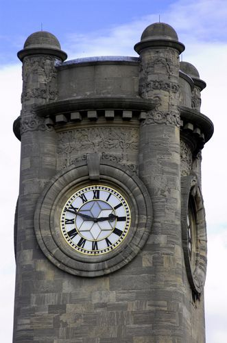 The clock tower of the Horniman Museum & Gardens in London