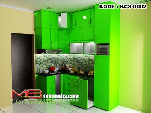Kitchen set minimalis hijau mb minimalis adalah toko for Katalog kitchen set