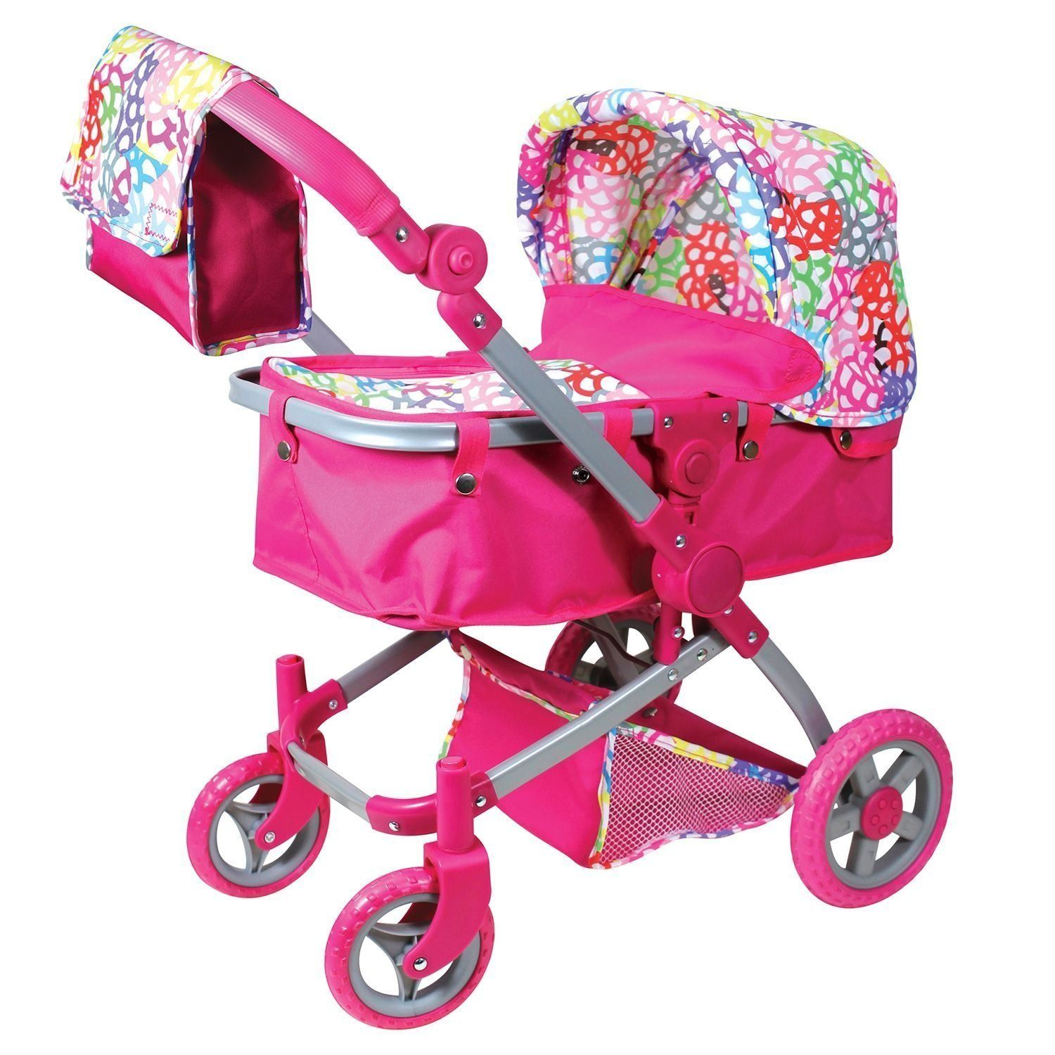 Baby Doll Stroller Multi Colored Comes With A Baby