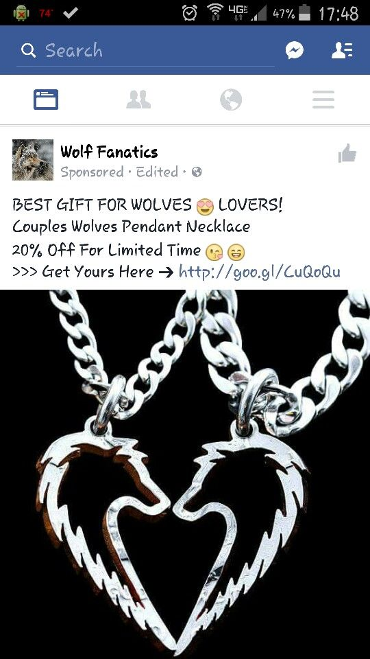 Two Piece Wolf Necklace