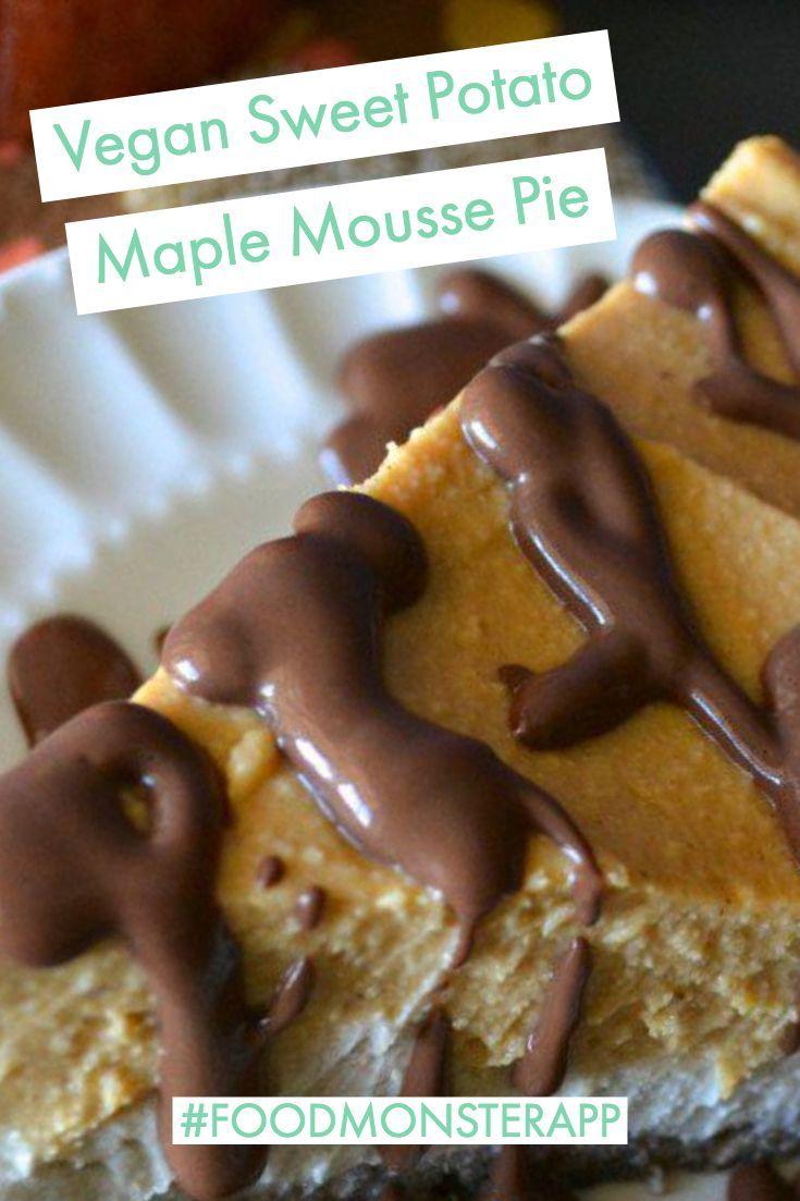 Sweet Potato Maple Mousse Pie Vegan In 2019 Best Vegan