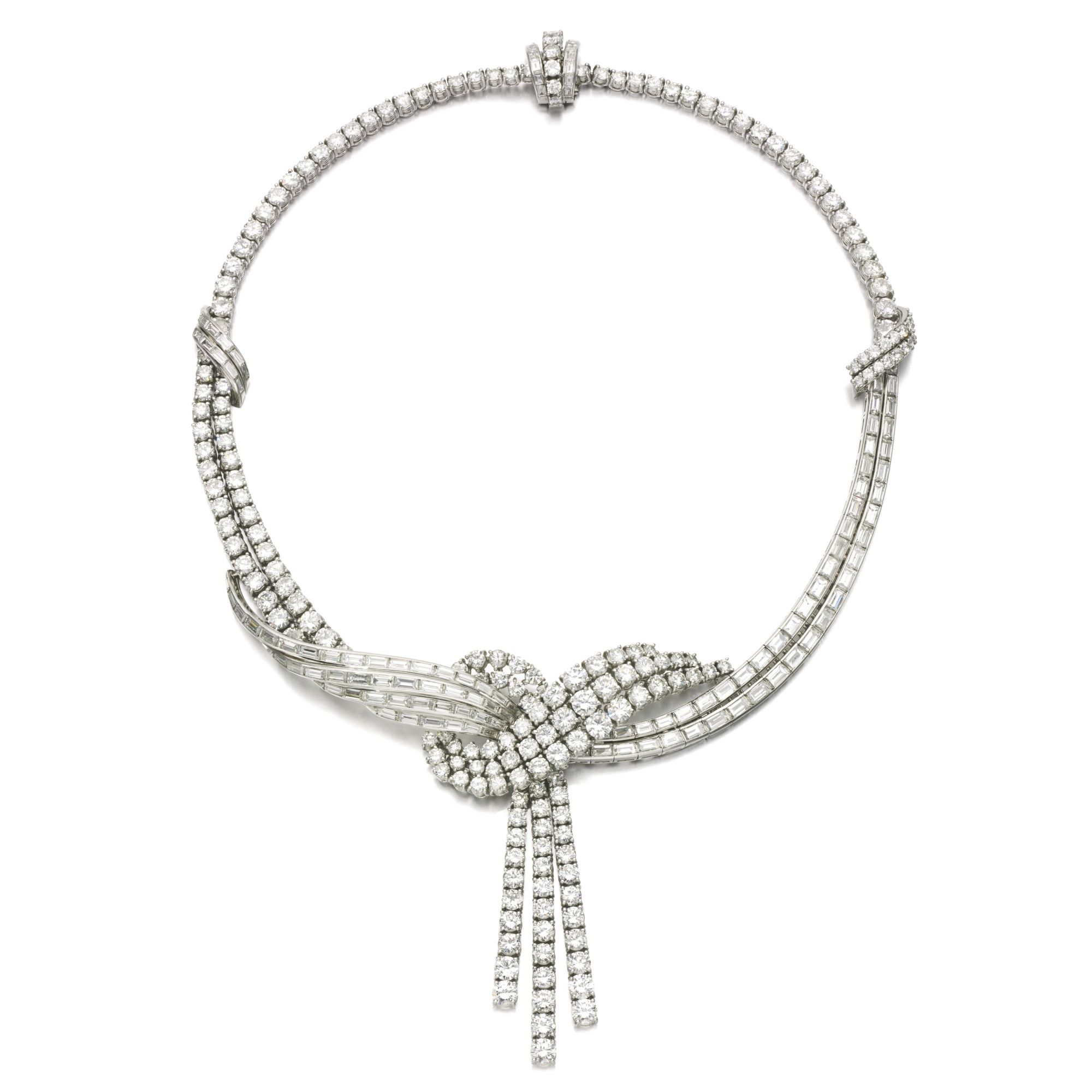 fine product adornarent diamond necklace and category oval baguette set