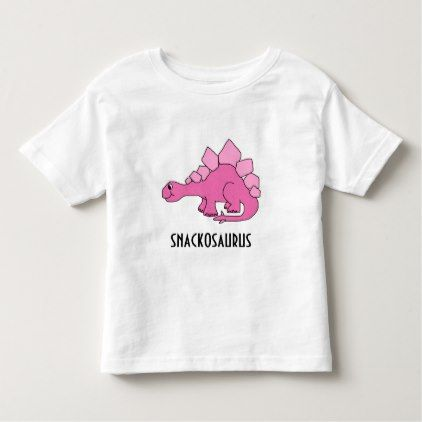 c2371aa8 Cute pink dinosaur; Snackosaurus Toddler T-shirt - kids kid child gift idea  diy personalize design