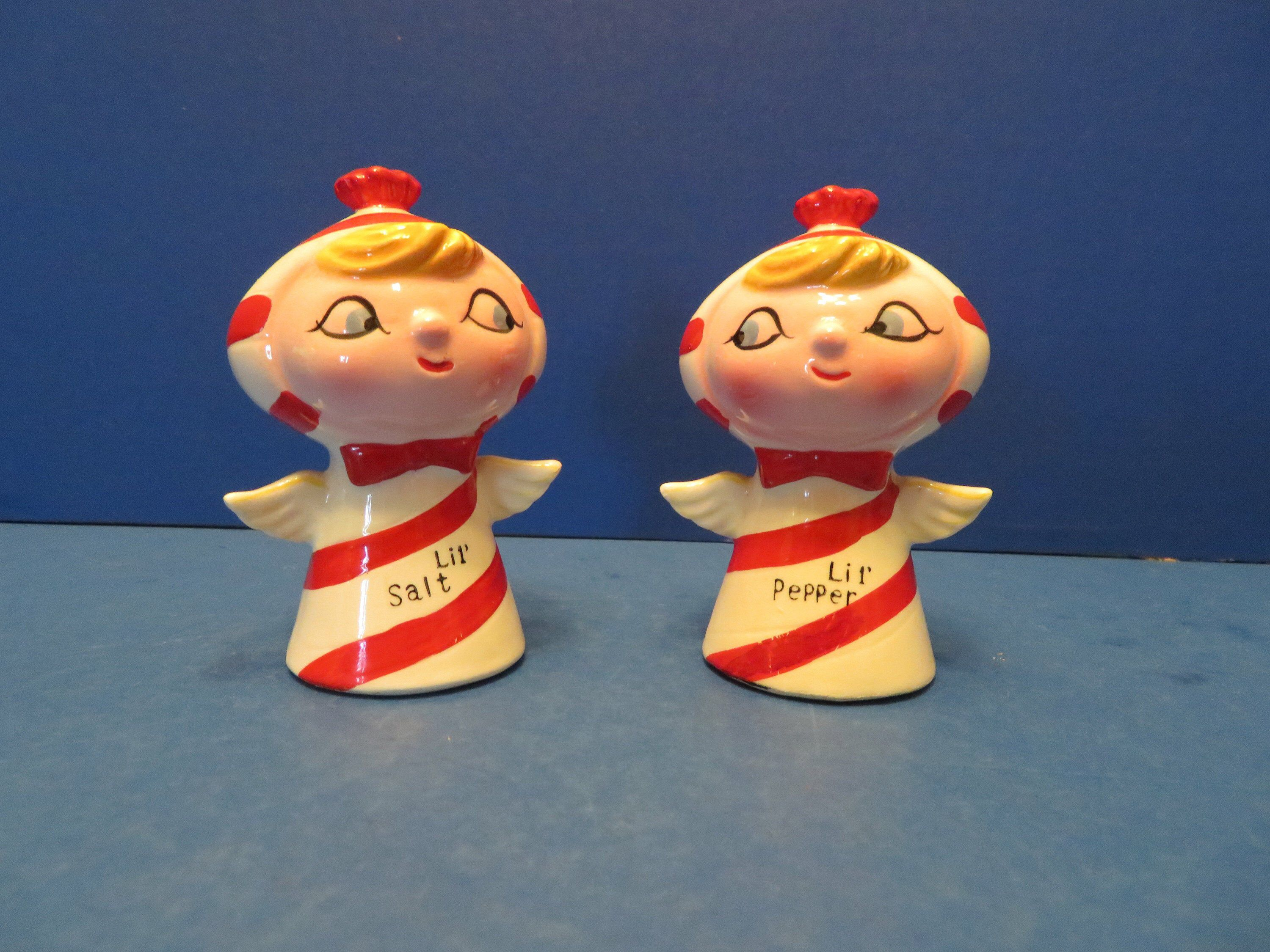 Holt Howard Candy Cane Striped Pixie Lil Salt and Lil