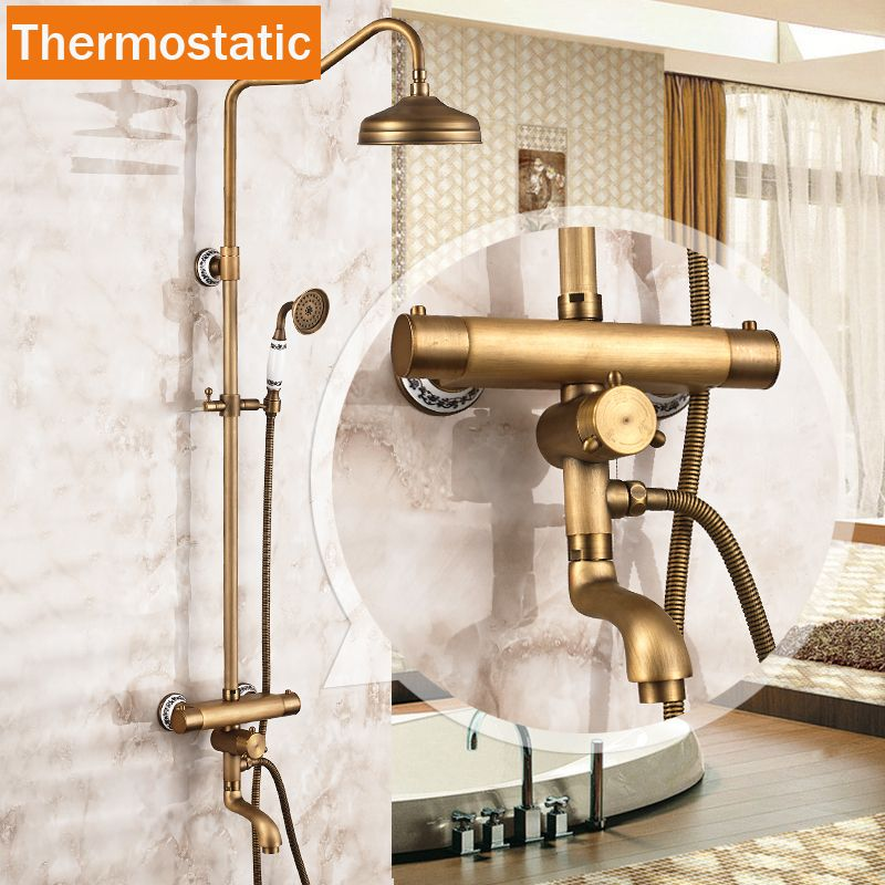 Best Quality Wall Mounted Two Handle Thermostatic Shower Mixer ...