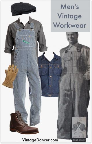 Men's' Denim Overalls Coveralls Workwear Vintage Blue Jumpsuit Costumes Pants