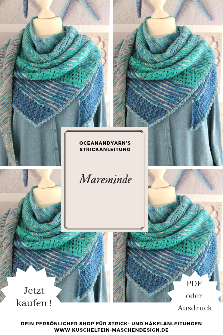 Knitting instructions Mareminde by oceanandyarn – Knitting pattern #guide #Knitting #M …  – stricken