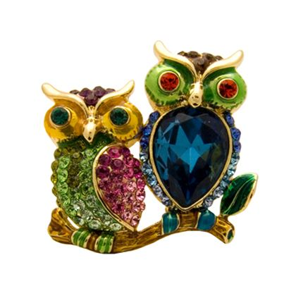 Butler and Wilson Small Owl Lapel Pin Brooch 5NhCCU