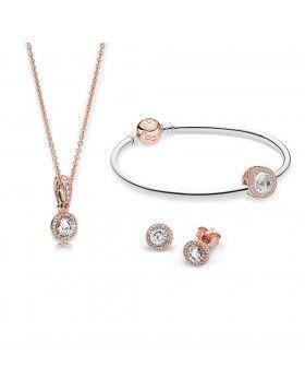 634c975d0ff7 Conjunto de regalo de joyas PANDORA Rose - Pendientes de botón de  elegancia