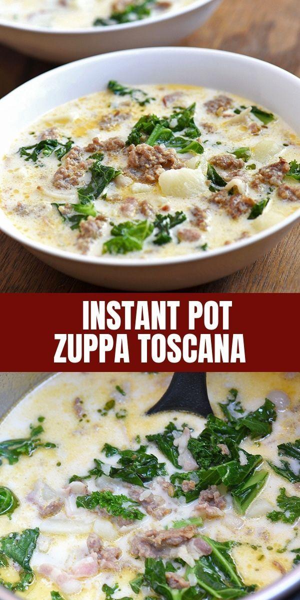 Instant Pot Zuppa Toscana ist Ihre Lieblingsrestaurantsuppe, die schnell und ... #zuppatoscanasoup