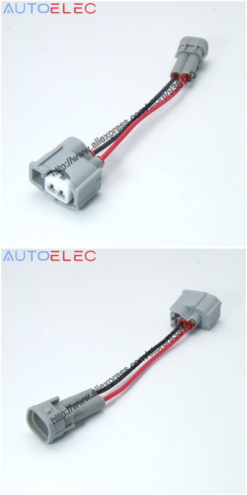 1pcs 2pin Fuel Injector Connector Adaptor Wiring Harness 1jz 1jzgte High Flow Rail Complete