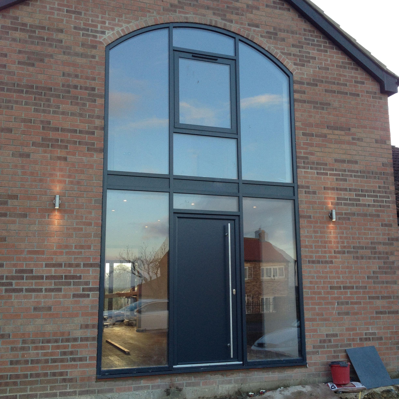 Aluminium Shaped Windows and Front Door / Anthracite Grey Windows ...