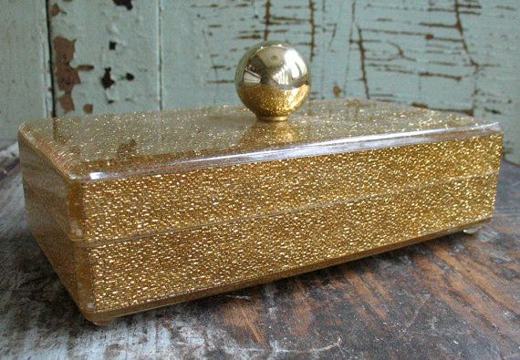 Vintage Lucite Jewelry Box on Etsy Boudoir Pinterest Box