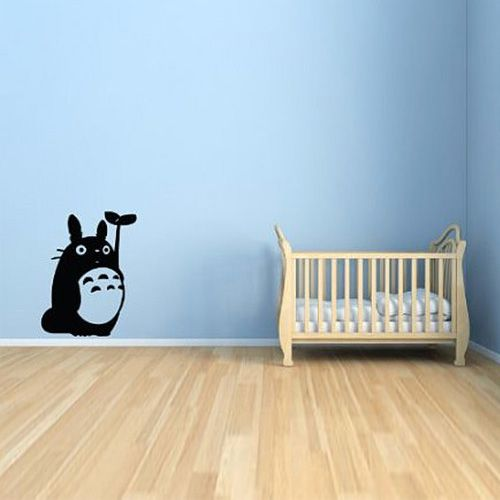 Totoro and Leaf Wall Decal Decor, Totoro
