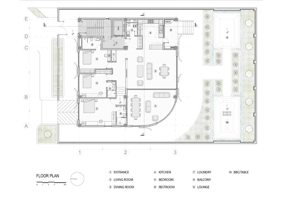 Gallery Of Khesht Baf House Imagearchitects 33 Floor Plans House Gallery