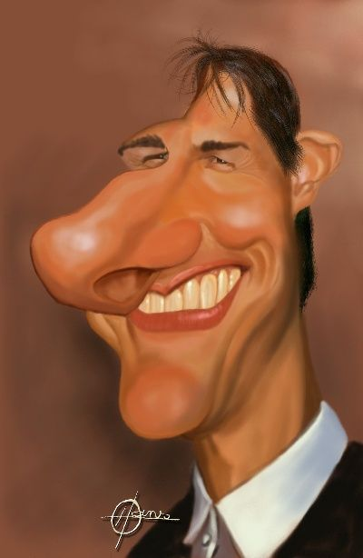 Caricatures Of Famous People Celebrity Caricatures Funny Caricatures Tom Cruise