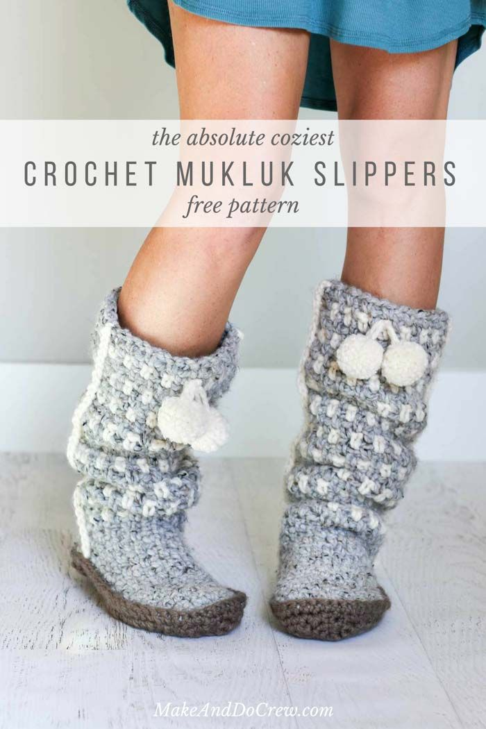 Free Pattern: Slouchy Slippers - the perfect crochet gift ...