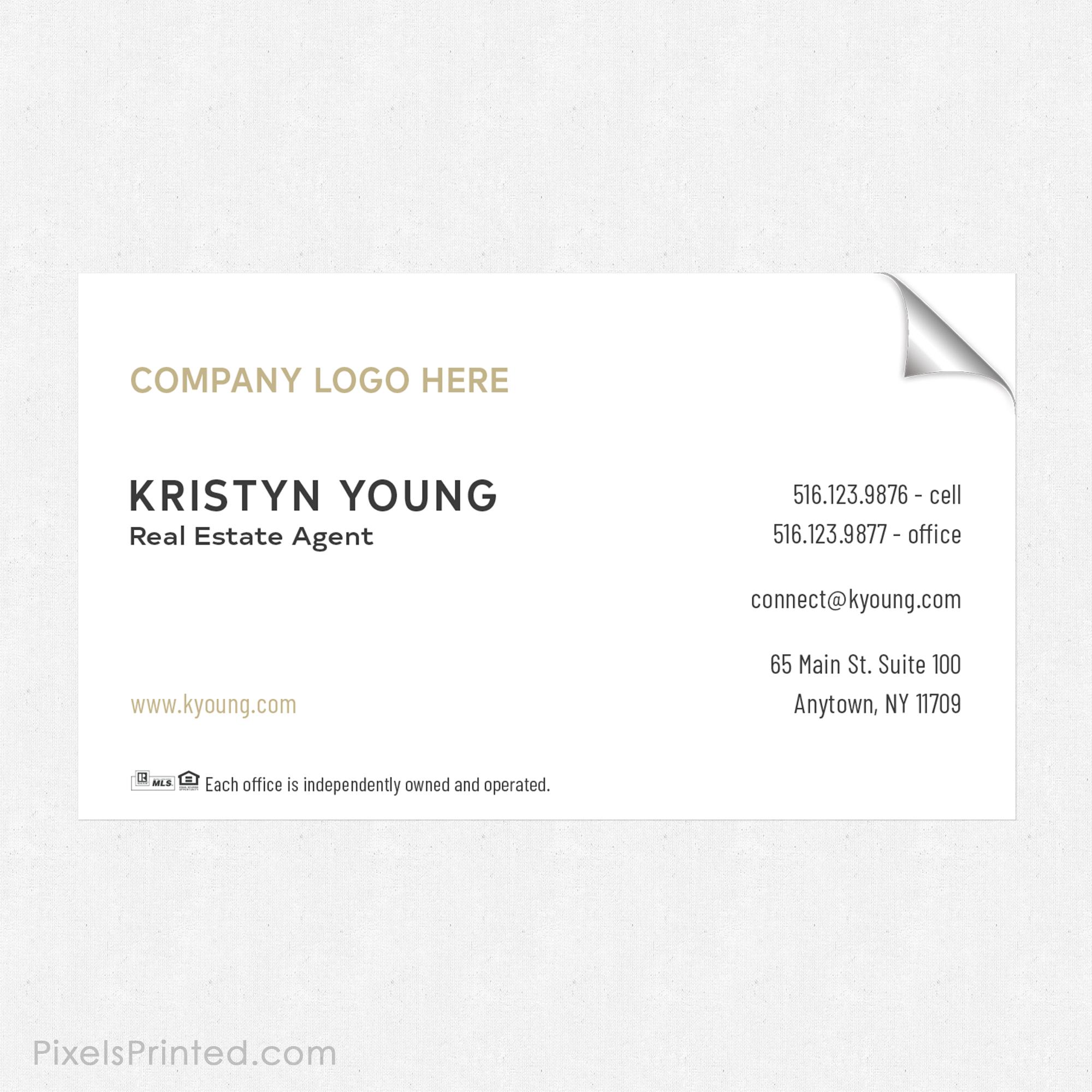 Century 21 business card sticker | Century 21 Stickers