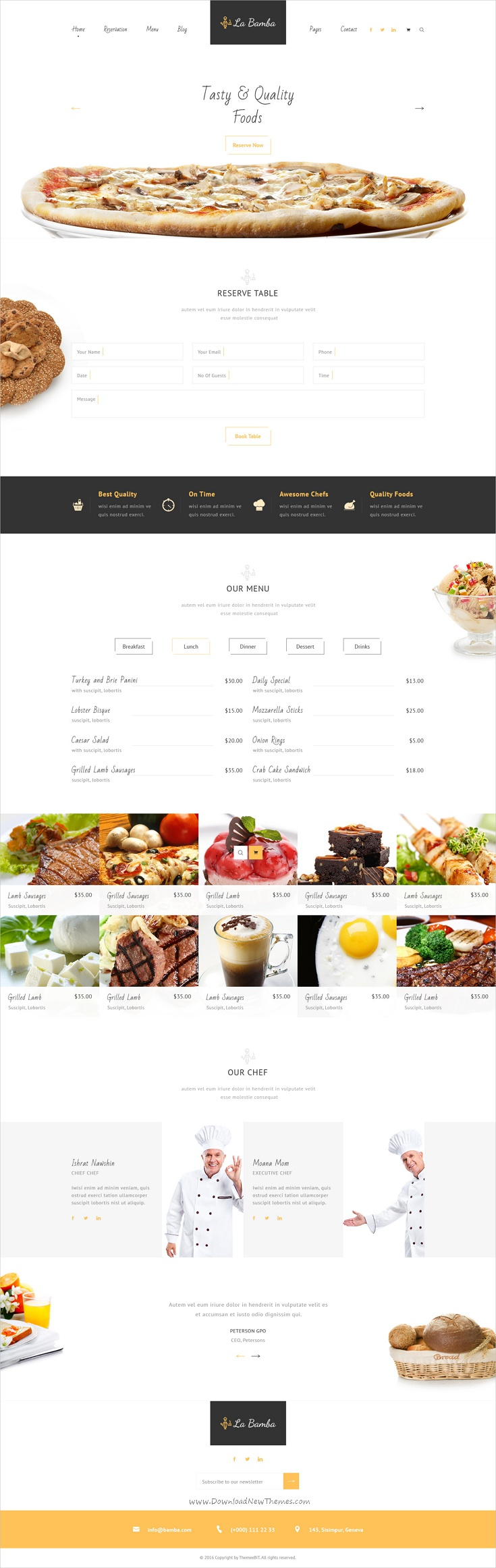La Bamba is a wonderful #Photoshop Template for #Restaurant and #food #cafe business websites with 17 organized PSD pages download now➩ https://themeforest.net/item/la-bamba-restaurant-psd-template/19300592?ref=Datasata