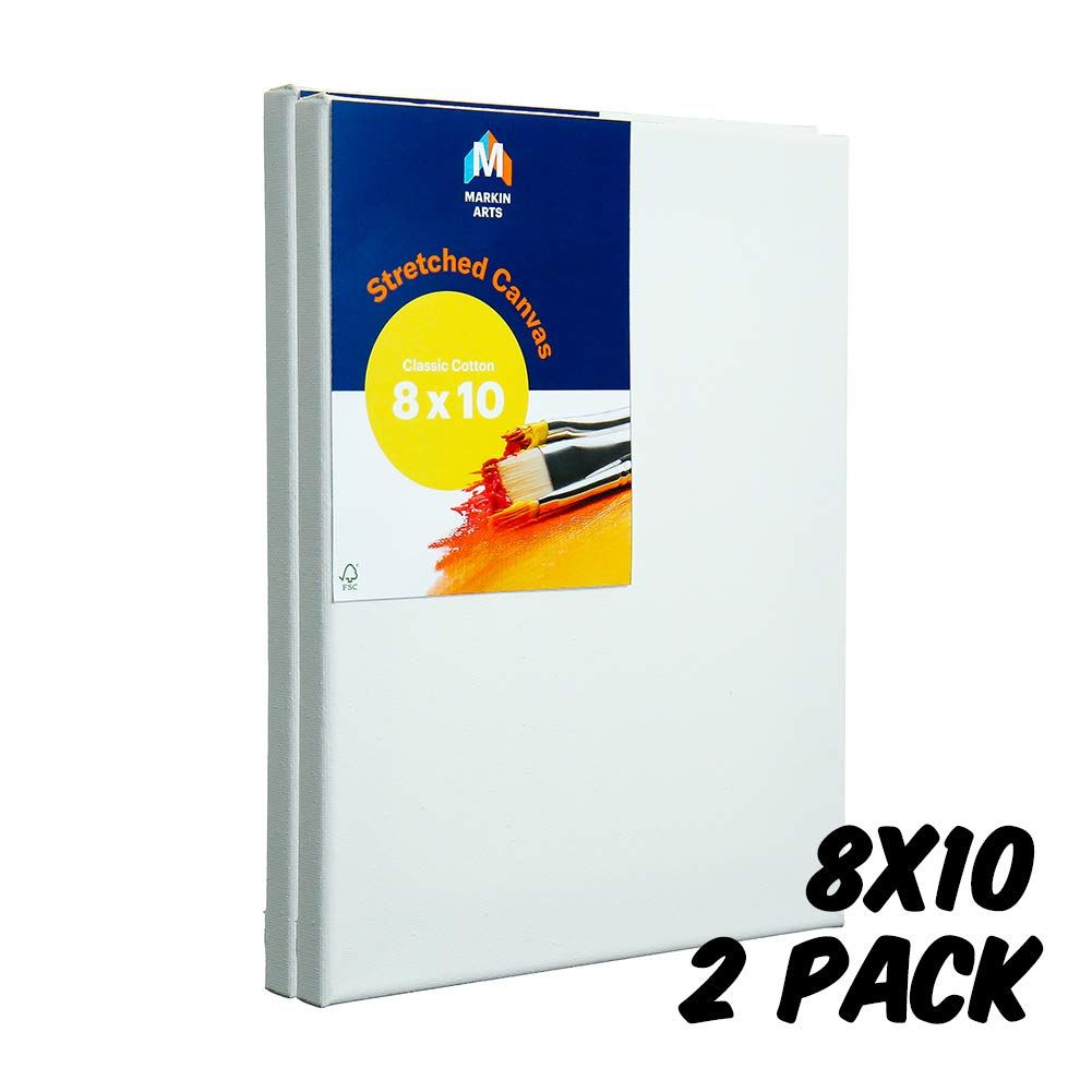 "US Art Supply 3/"" x 3/"" Mini Professional Primed Stretched Canvas 6-Packs of 12 72"