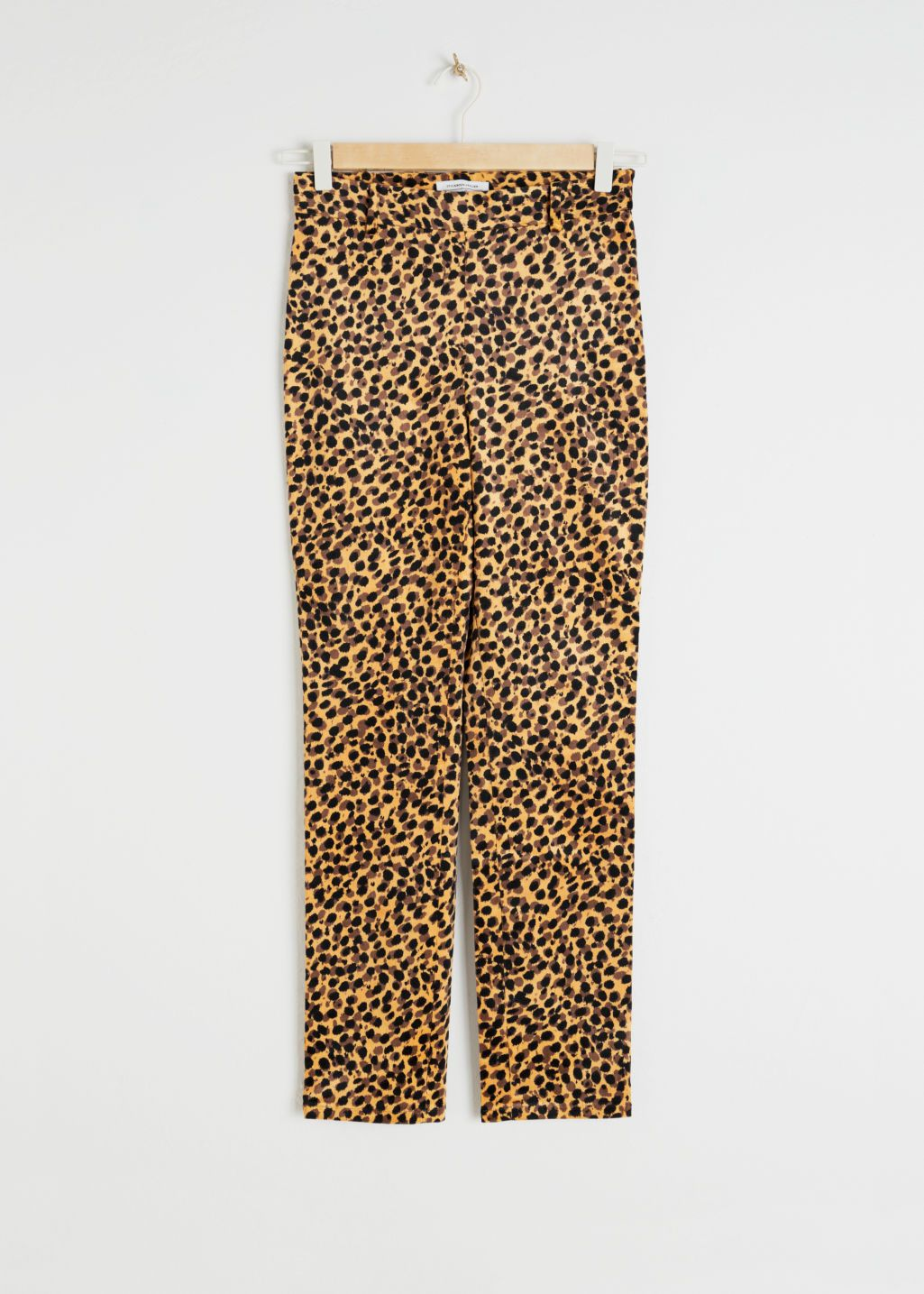 6c21dbf3b2ff Front image of Stories in yellow Leopard Print Pants, Printed Trousers,  Cord Trousers,