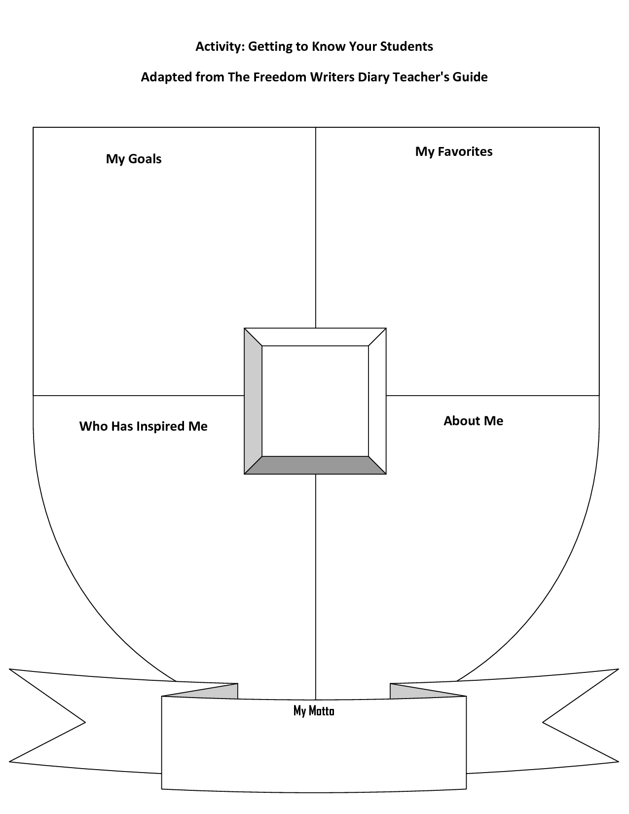 blank coat of arms template printable pinterest