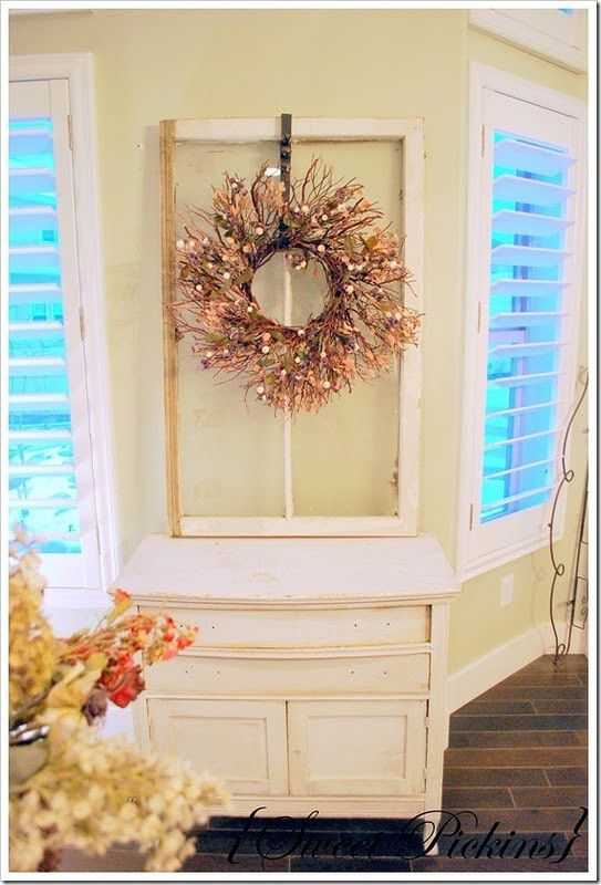 Hang A Wreath From An Old Window