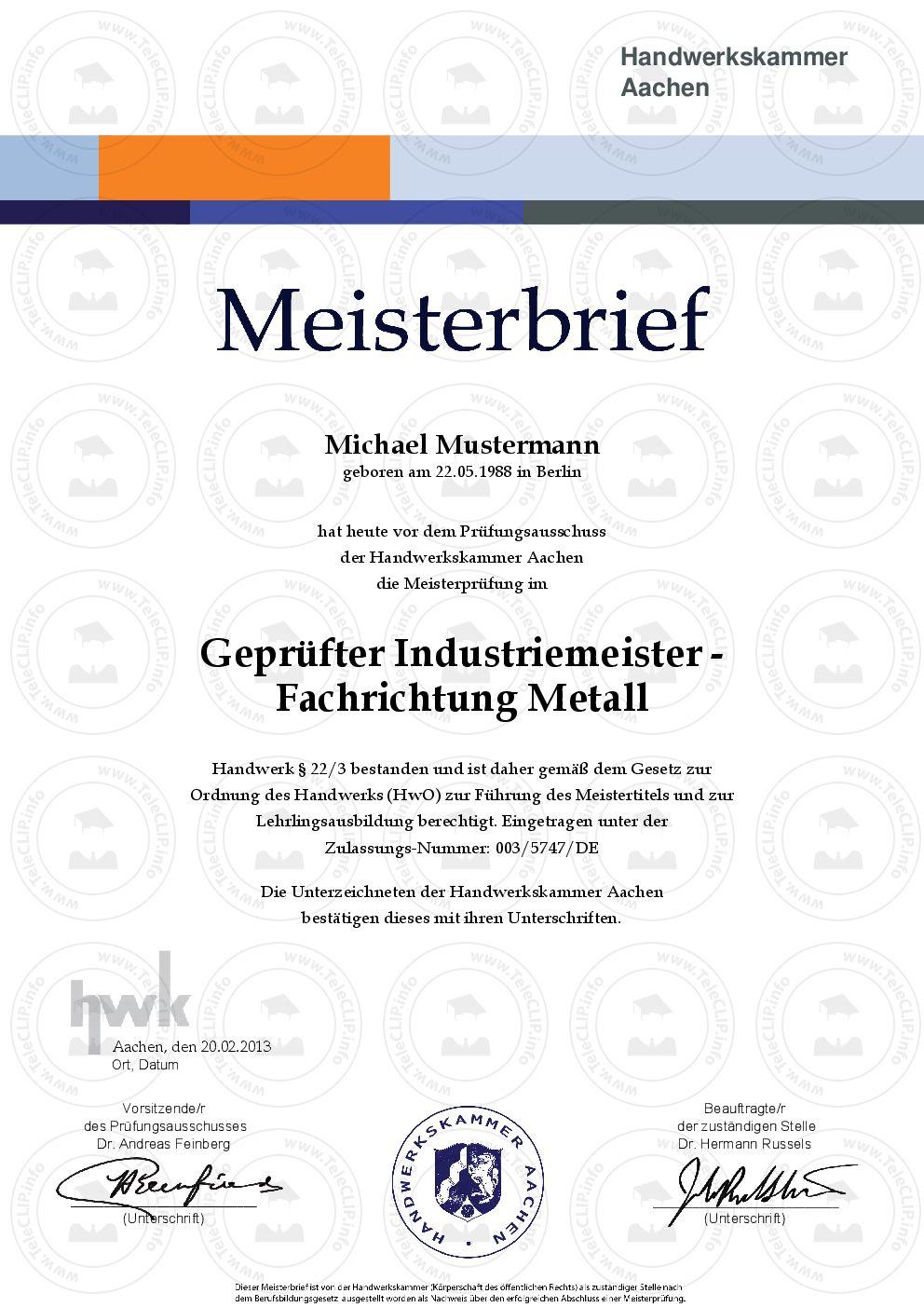 Pin On Hwk Meisterbrief Kaufen Mit Ihrem Wunschberuf Meistertitel Urkunde Fur Den Handwerksberuf