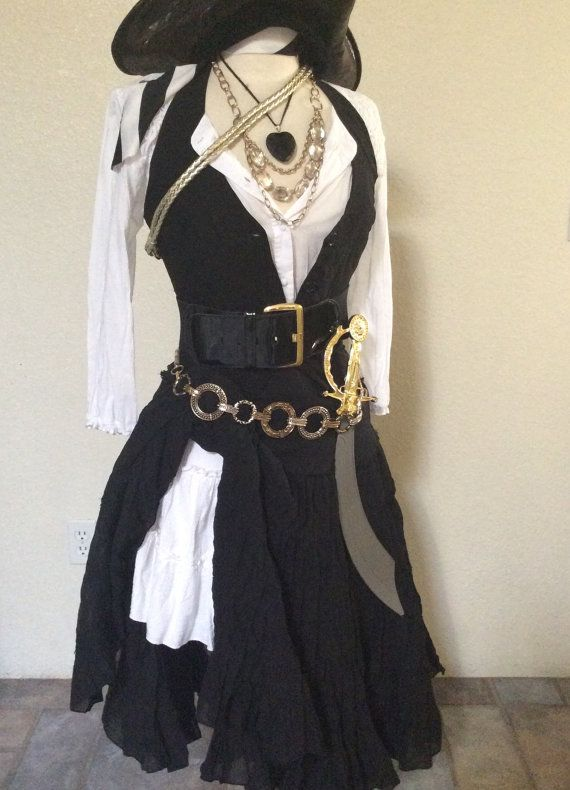 Adult pirate halloween costume including by for Diy halloween costumes for adult women