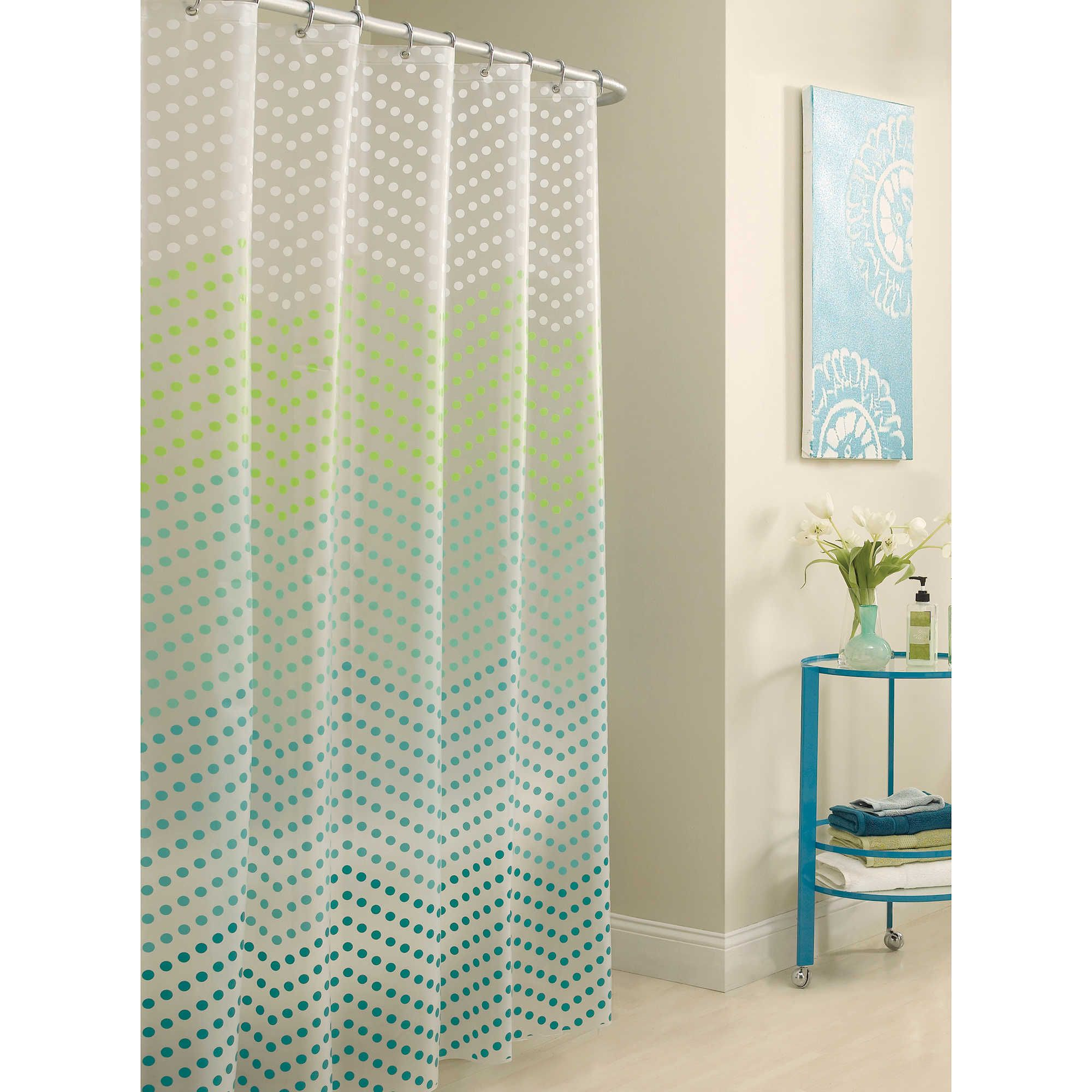 Aqua chevron shower curtain - Liven Up Your Bathroom D Cor With The Chevron Dots Shower Curtain Reminiscent Of Fun Candy