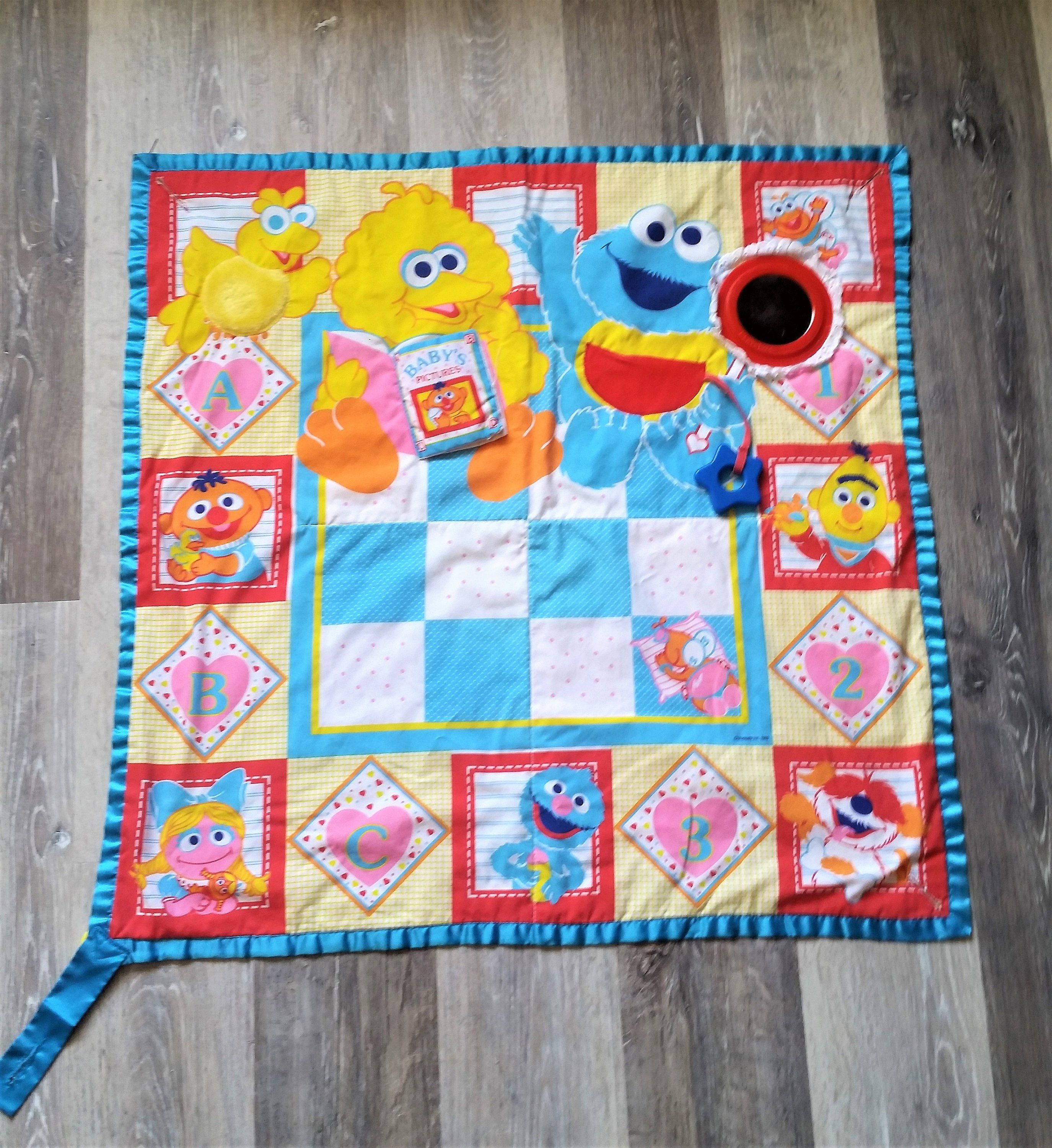 Vintage 1990 S Sesame Street Cotton Quilt Baby Wall
