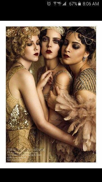 New Years Eve Great Gatsby Make-up und Haar Ideen #newyearseveoutfits