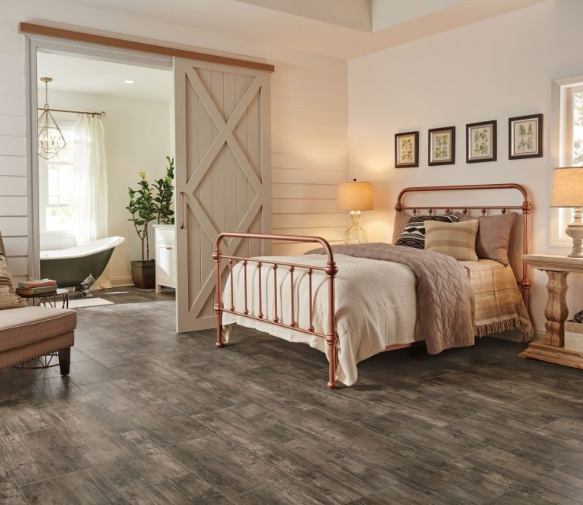 Pin By Songyi Park On Drive Wilde Grey Wood Floors Bedroom Bedroom Flooring Bedroom Floor Tiles