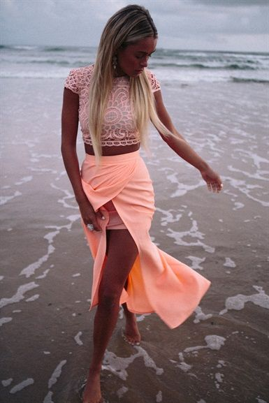 #summer #fashion #style #skirt #outfit #croptop #top #pretty #colorful #cute #lace #neon #bright